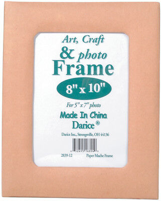 """Paper Mache Frame 8""""X10"""" 5""""X7"""" Photo Opening W/Easel Back 2839-12"""