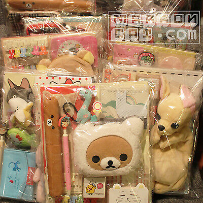 10 Item 2017 Fukubukuro Plush Stationery Lucky Bag Cute Kawaii Suprise Grab lot