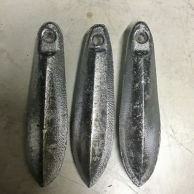Snapper Reef Lead Fishing Sinkers [4oz x 3]  Other sizes available