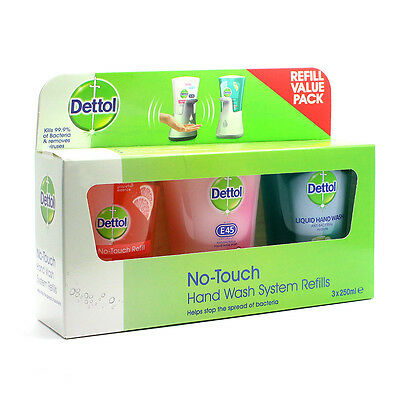 New Dettol No Touch Hand Wash Refills 250ml 3 Pack