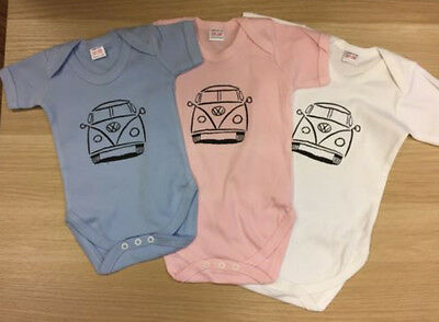 vw campervan boys and girls baby grow vests only £4.99 each
