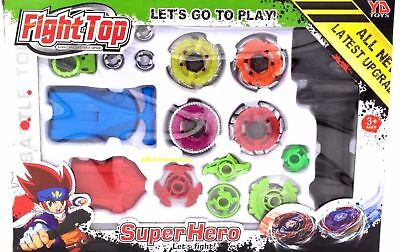 Fight Master Beyblade Top Set Spinning Metal Fusion 4D Launcher Toy Gift UK SELL