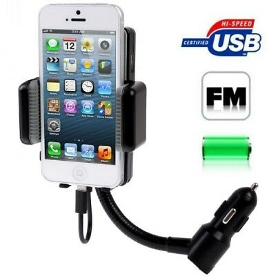 TECH Black 3 in 1 (Universal All Channel FM Transmitter + Car Charger + Hands F