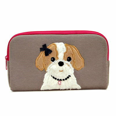 BESTEVER Almighty Pouch PSP Cosmetic Bag - Shih Tzu / Brown