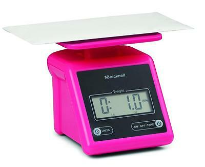 Brecknell  PS7 Electronic Portable Postal Parcel Scale 7 lb x 0.5 oz, Dual, Pink