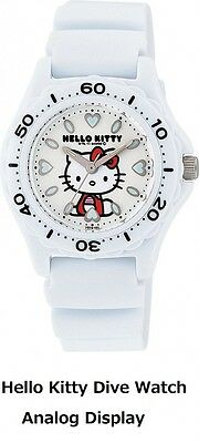 CITIZEN Q&Q Hello Kitty Sanrio Japan Dive Watch White Analog Display VQ75-431