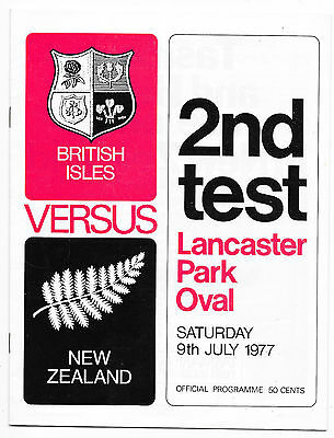 1977 - New Zealand v British Lions, 2nd Test Match Programme.