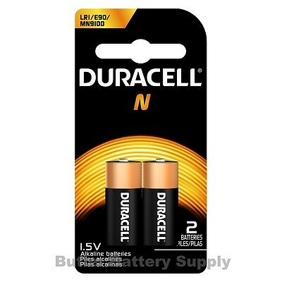 2 x N Duracell 1.5V Alkaline Batteries ( Medical, LR1, E90, MN9100 )