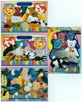 Ty Case Topper Beanie Baby Issued Card 1-7-1995 (Colored Teddys) in Holder BBOC