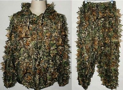 Military Hunting Camo 3D Leaf Camouflage Ghillie Bionic Disguise Training Suit
