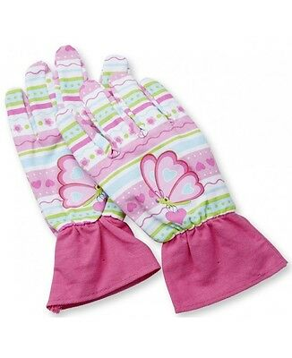 Girls Butterfly Gloves Gardening Decorating Building Ages 3-6 Pink Soft Fabric