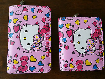 Hello Kitty Cute Girls kids School Wallet Purse With Zipped Compartment Free P&P