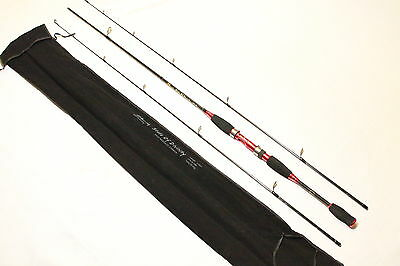 Double Tip M/MH SPIN SPORTS Soft Plastics Fishing Rod (Red)