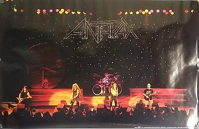 Anthrax 22x35 Persistence Of Time Music Poster 1990 Live On Stage