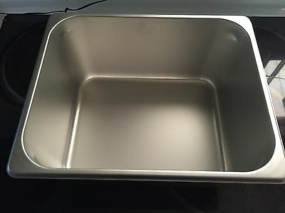 1/2 Size Stainless Steel Hotel Pan Prep Table Pizza Cooler With Lid Lot