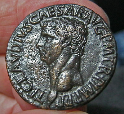 Roman Claudius, Æ As, Rome Mint, Exceptionally Fine Quality