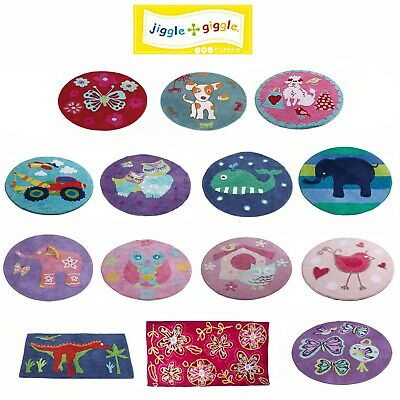 Kids Children Girls Boys 100% Cotton Floor Bedroom Rug Mat by Jiggle & Giggle