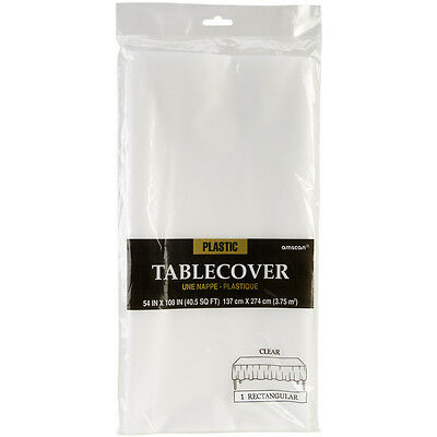 "Plastic Tablecover 54""X108"" Clear 7701586"