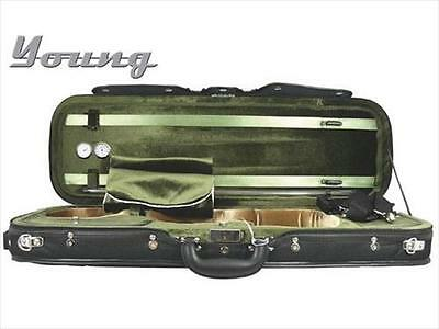 Young Deluxe Oblong Violin Case 4/4 Full Size Black & Green **NEW**