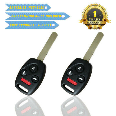New Replacement Uncut Remote Head Keyless Entry Combo Transmitter Key Fob 4 Btn