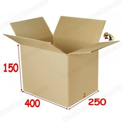 20 CAISSES EMBALLAGE CARTON 400 X 250 X 150 mm / 30 DVD