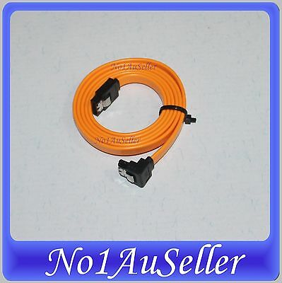 NEW SATA Data Cable 90 Degree Right Angle HDD Hard Drive with Clip 50cm 100cm 1m