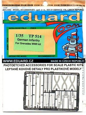 Eduard Tp 514 - 1/35 Photoetched Fotoincisioni German Infantry For Grenades Wwii