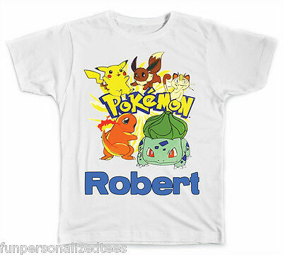 Personalized Pokemon T-Shirt