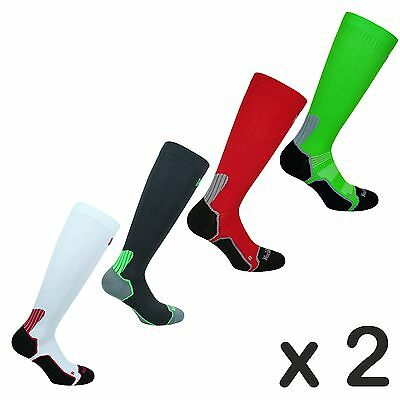 2 x Mens Norfolk Running Compression Socks also for Football / Cycling -Bekele