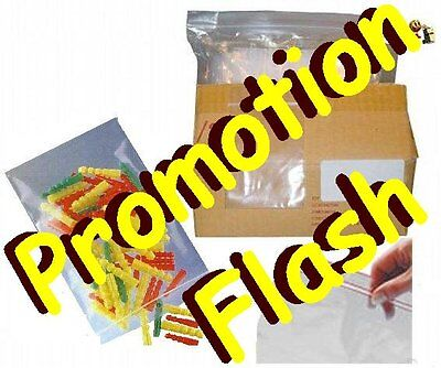 4 000 Sachets plastique transparent - ZIP - 100 x 100