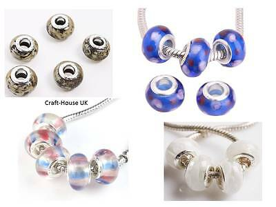 NEW Lampwork Glass Beads for Charm Bracelets
