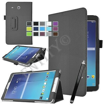 """Smart Leather Flip Stand Case Cover For Samsung Galaxy Tab E 9.6"""" T560 T561"""