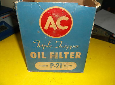 A-C Oil Filter Element  P21 Chrysler DeSoto Dodge Plymouth 30's & 40's