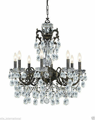 Crystal Chandelier 8 Light French Bronze Lead New Palace New Chic Antique style