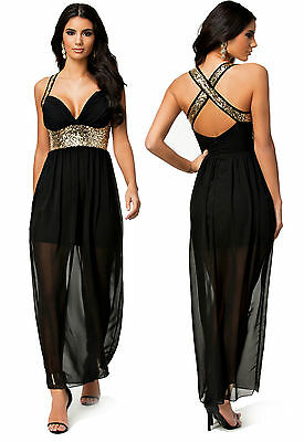 Maxy Abito nero aperto no maniche trasparente Womens Mini open dress clubwear