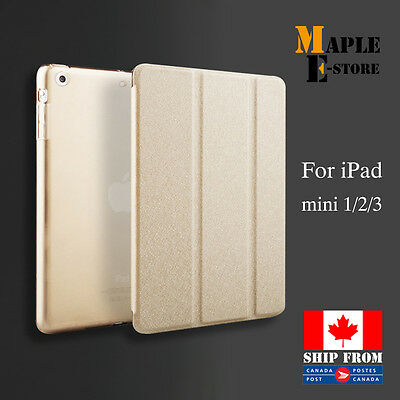 Luxury Slim Smart Wake Leather Case Cover  For iPad mini 1/2/3