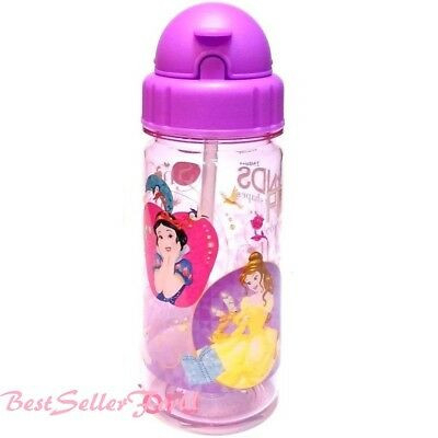 Authentic Disney Tritan BPA Free Straw Water Bottle Kids Baby Sippy Cup Tumbler