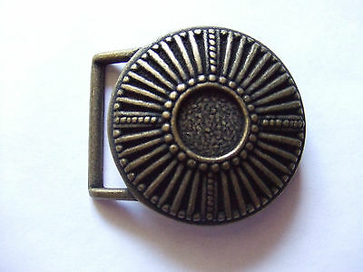 Antique Brass End bar//Harness Belt Buckle By Century Canada