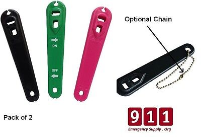 Heavy Duty Plastic Oxygen Cylinder Wrench Pack of 2 Choose Color Optional Chain