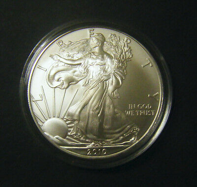 2010 1oz Silver American Eagle Bullion coin .999 Fine One dollar BU uncirculated