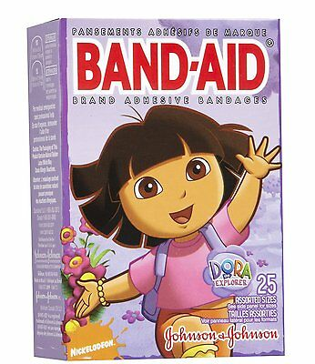 Band-Aid Children's Adhesive Bandages, Dora the Explorer Assorted sizes 25 Each