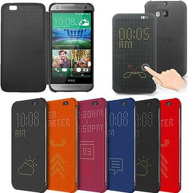 Fashion HTC Dot View Premium Flip Leather Smart Case Cover for HTC One M8 M9 M9+