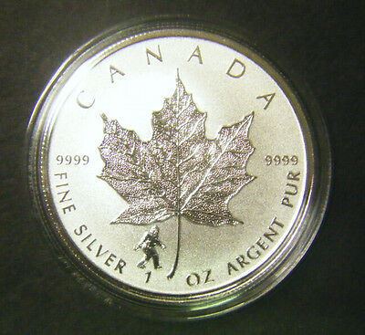 2016 Canada $5 1oz Bigfoot Privy Mark Silver Maple Leaf coin Reverse Proof