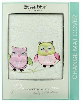 Bubba Blue Embroidered Baby Owl Girl Change Pad Cover