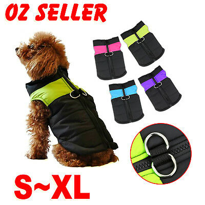 Dog Jacket Padded Waterproof Winter Coat Warm Pet Windbreaker Clothes Puppy Vest