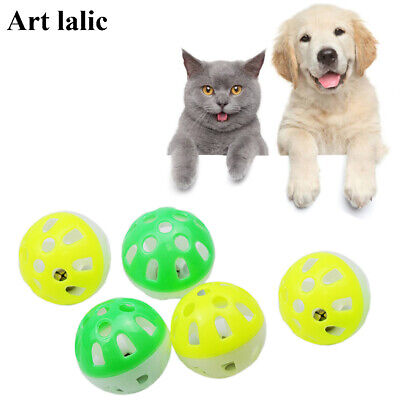 8 pcsTinkle Bell Ball Dog Cat Toy Kitten Play Ball With Plastic Jingle Bell