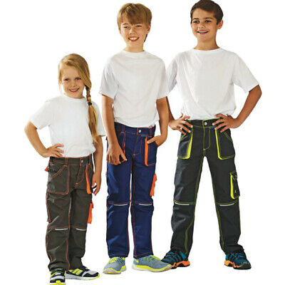 Safeline Junior Bundhose Kinder Arbeitshose robust Cargohose 86/92 - 170/176 NEU
