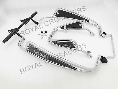 VIGANO VESPA PX/STELLA/LML CHROMED FLORIDA CRASH BARS & BUMPER SET #vp19 (CO-87)