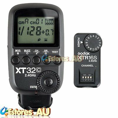 【AU】Godox XT32C 2.4G 1/8000s Wireless Flash Trigger + XTR-16S Receiver For Canon