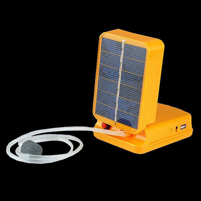 New Solar Power Panel Oxygenator Oxygen Aerator Air Pump for Pool Pond Fish Tank